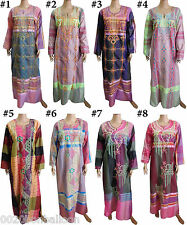 Egyptain Cotton Embroidered Kaftan Caftan Jilbab Galabeya Abaya Islamic 439