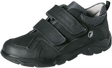 BOYS RICOSTA  BLACK LEATHER 2 STRAP SCHOOL SHOES SIZE UK 11 - 2.5 New