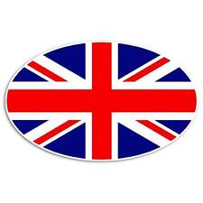 Union Jack Flag Sticker - Great Britain London Decal English Oval