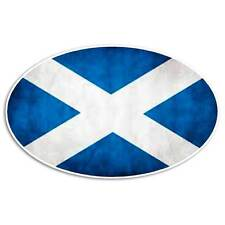 Scotland Grunge Flag Sticker - Oval Scottish Decal