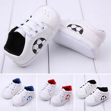 Kids Baby Boys Girls Football Sneaker Casual Trainers Running Sport Crib Shoes