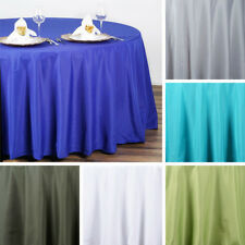 """6 pcs Wholesale Lot 108"""" ROUND POLYESTER TABLECLOTHS Wedding Party Supplies"""