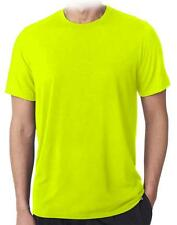 Mens AAA High Visibility Neon Green Plain Safety Working Short  Sleeve T-Shirt