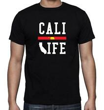 "NEW MEN'S PRINTED ""CALI LIFE"" CALIFORNIA FUNNY MMA DOPE T-Shirt Tee MMA ALL SIZE"