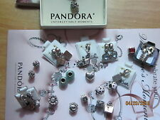 "Authentic Pandora Sterling Silver  ""Pick Your Choice"" Charms - $33.99 EA"