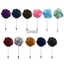 Lapel Rose Flower Daisy Handmade Boutonniere Stick Brooch Pin Jewelry Accessory