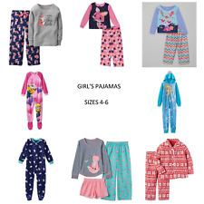 NWT Girls Pajamas Frozen Elsa, Carter's, Minions, Pony, 2-Pc, Footed Size 4-6