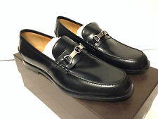 Gucci Black Leather Loafer with Interlocking G Horsebit $595 NEW