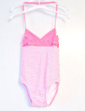 Circo Toddler Girls One Piece Swimsuit Pink and White Flowers Size 2T , 3T NWT