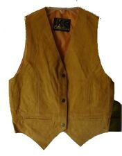 KC Collection Juniors Genuine Leather Vests. Tobacco