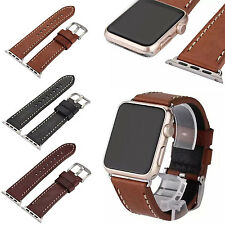 Genuine Leather Retro Watchband Replace Watch Band Strap for Apple Watch iWatch