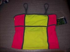 GIRLS MALIBU MULTIPLE COLORED TANKINI SWIM TOP ONLY SIZE:7 NEW WITH TAGS