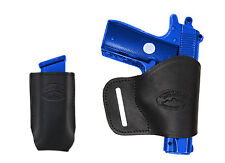 NEW Barsony Black Leather Yaqui Holster + Mag Pouch Star Bersa 380 Ultra Compact