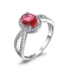 Amazing Ladies Unique Pink Sapphire Ring Solid 925 Sterling Silver Size 6 7 8