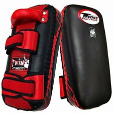 "TWINS SPECIAL MUAY THAI PADS KPL2 ""M OR L"" PAIR KICK BOXING MMA RD/BK AUS STOCK"