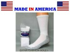 Steel Toe Big & Tall White cotton Thick Cushioned Socks Size 13-15 gift him USA