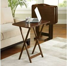New Hamilton 5-Piece Snack Tray Table Set, TV, Folding, Dinner, Serving, Stand