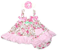CLEARANCED PRICED Baby Light Pink Roses Swing Top, Bloomers