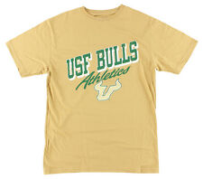 Old Varsity Mens University of South Florida Bulls Athletics T Shirt Yellow