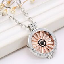 MY Coin Mi Moneda Love Charms Crystal Disc Holder Locket Pendant Chain Necklace