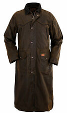 Outback Trading Co Pathfinder Duster Mens Bronze 100% Cotton Oilskin