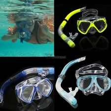 Goggles Snorkeling Scuba Gear Dive Mask Diving Equipment Dry Snorkel Set Beach