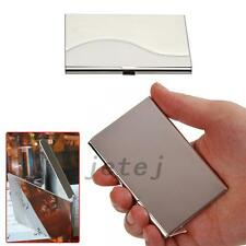 Fashion Pocket Metal Business ID Credit Card Case Box Holder Stainless Steel