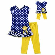 Dollie & Me Girl 4-14 and Doll Matching Dot Dress Outfit Clothes American Girl