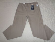 NAUTICA CARGO PANTS MENS SIZE 38X30 TRUE KHAKI COLOR ZIP FLY NEW WITH TAGS