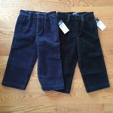 NWT boys 2 3 4 Polo Ralph Lauren wide wale corduroys pants pleated & flat front