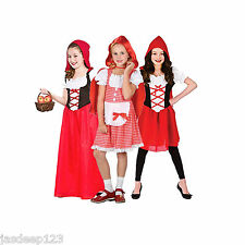 Red Riding Hood Girls Book Week Fancy Dress Costume Fairytale Outfit Sizes 3-13