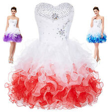 Summer Mini Cocktail Party Homecoming Dress Evening TUTU Dance Bridesmaid Dress