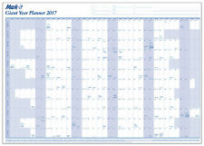 Giant Laminated 2017 Yearly Wall Planner