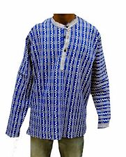 New kurta Indian 100% Cotton boy's Shirt Kurta Shirt loose fit check