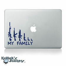MY GUN FAMILY #1 Vinyl Decal fits car laptop and more transfer sticker K394