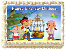 JAKE AND THE NEVERLAND PIRATE Birthday Image Edible Cake topper