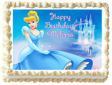 CINDERELLA Image Edible Cake topper Frosting sheet - Princess