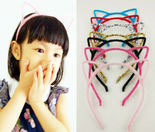Wholesale Lots 10 pcs Gril's Cat Ear Headband Fluffy Hair Band Animal Party Gift