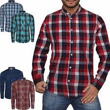 Mens Next Branded Check Shirt Long Sleeve Shirt Casual Check Designer Work Shirt