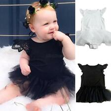 Kid Baby Girls Infant Princess Romper Jumpsuit Bodysuit Clothes Outfit Dress New