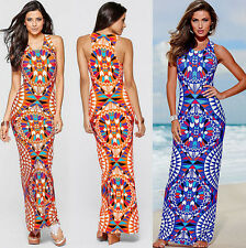 Womens Party Beach Sundressscreen Dress Maxi Evening Summer Long Boho Sexy  New
