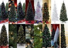 TRADITIONAL, PRELIT & FIBRE OPTIC CHRISTMAS TREES – Various Colours and Sizes