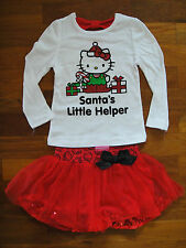 SALE new HELLO KITTY GIRLS 2PCS OUTFIT SETS LONG SLEEVE TOPS + SKIRT SIZE 2 & 4