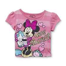 Disney Minnie Mouse Shirt Short sleeve pink Toddler Girls Various sizes NWT