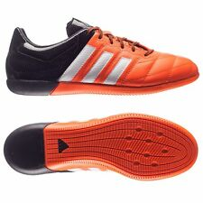 Adidas Ace 15.3 Indoor Soccer Boots Football Shoes Black/Solar Orange Leather