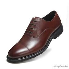 Men' Oxford Leather Dress Formal Business Brogue Casual Breathable Loafers Shoes