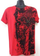 NW Men's Printed Fleur De Lis W/Rhinestone Funny hipster MMA Design Red T-shirt