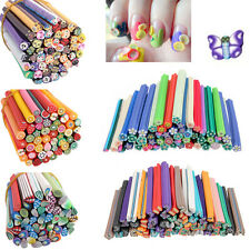 HOT 50pcs 3D Nail Art Fimo Canes Stick Rods Polymer Clay Stickers Decoration DIY