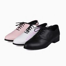 Women Spring Lace Up Flats Girls Comfort Creepers Casual Moccasin-gomminos Shoes