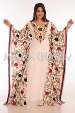 MODERN  JILBAB GEORGETTE MOROCCAN CAFTAN WEDDING GOWN MODERN DRESS  5071